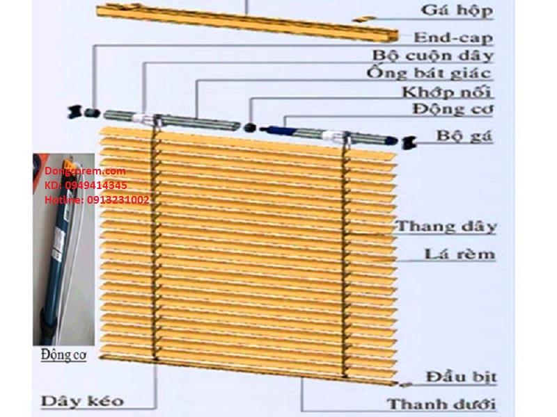 Rèm sáo gỗ tự động